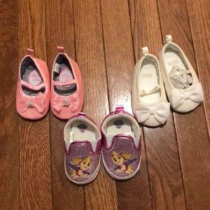 Baby girls crib shoe size 6-9 months 3 pair bundle